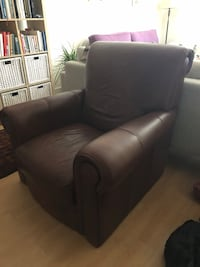 Leather sofa (one seat, non-recliner)