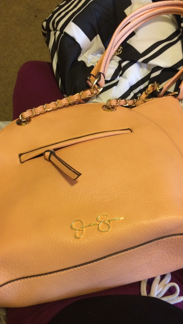 803420be86bf Used brown leather jessica simpson tote bag for sale in Fredericksburg -  letgo