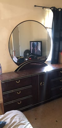 brown wooden dresser with mirror Manassas, 20111