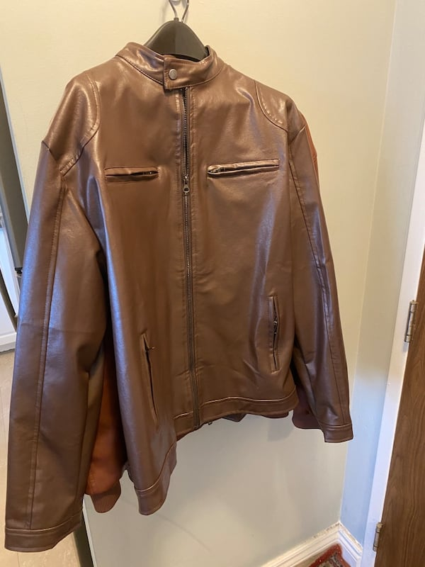 Special Men's XL fall or spring brown motorcycle jacket 7f6b011b-8627-4c52-a253-ac127a14b976
