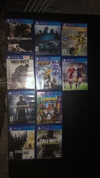 assorted Sony PS4 game cases 804 km