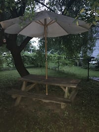 Picnic table$25 fire pit $20 chair $5 Whitehall