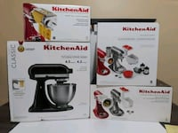 Kitchen Aid 4.5 Quart 4.3 Liters W/ 4 Attachments  Toronto, M6N