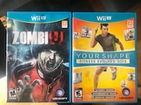 WiiU Games - ZombiU and YourShape  Ajax, L1T 0A5
