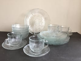 ARCOROC FRANCE 20 PCS GLASS DINNER SET