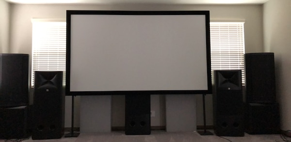 """120"""" Silver Ticket Acoustically Transparent Projector Screen"""