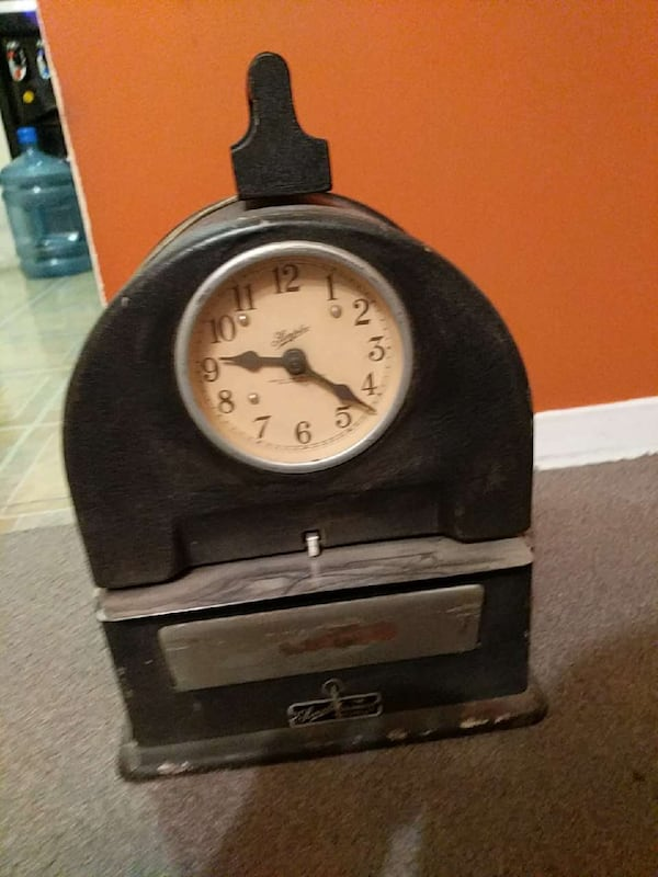 Used Antique Punch Clock Still Works