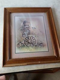 $2  Large Picture with Wood Frame