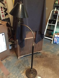 Floor lamp. Leather shade   Heavy. Good quality. Approx 5 ft high Potomac, 20854