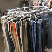 Round Metal Rolling Clothes Racks