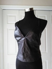 Leather blouse size Small