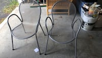 Pair stacking metal chairs  Litchfield, 03052