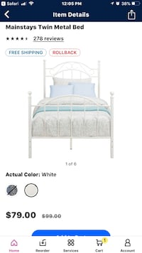 White metal bed frame screenshot Elkhart, 46517