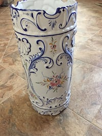 Tall vase with blue design, 17 inches tall Frederick, 21703