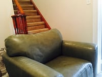 Plush Leather Couch  Mount Albert