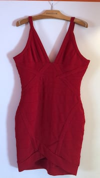Red Cocktail Dress size large