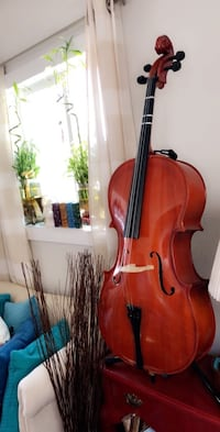 "Cello Full size 42"" oil finished solid wood Cecillo S/N As-Is Item 4/4"