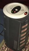 grey and black portable space heater