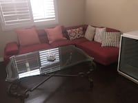 red and black sectional couch Los Angeles, 91303