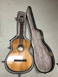 Cort classical guitar and case