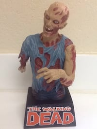 "WALKING DEAD 9"" Zombie Coin Piggy Bank - TV Show Blue Shirt 2014 - New! Las Vegas, 89119"