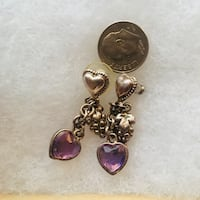 Purple heart grape earrings Toronto, M9A 4R7