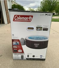 NEW Coleman SaluSpa 2-4 Person Portable Inflatable Outdoor Hot Tub Spa