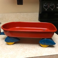 Antique 1930's-1940's Wyandotte Toy Mini Red Wagon Pressed steel Smithtown, 11787