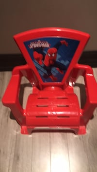 Plastic spider man chair new