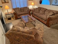 One sofa One loveseat  One chair 2 end-tables  2 lamps  Coffee table Union City, 30291