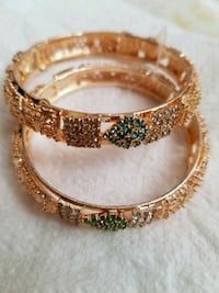 Green and gold color bangles Bristow