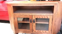 brown wooden TV stand with cabinet Beaumont, 92223