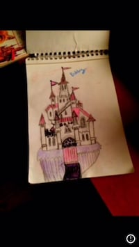 white and pink castle drawing screenshot