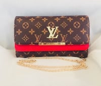 black and red Louis Vuitton leather wallet Gaithersburg, 20879