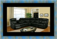 Cshape sectional black bonded leather Washington, 20002