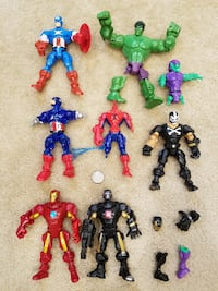 Assortment of Marvel Avengers Super Hero Mashers Mix and Match Action