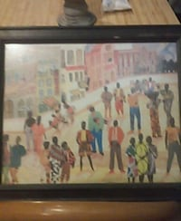 brown wooden framed painting of people 848 mi