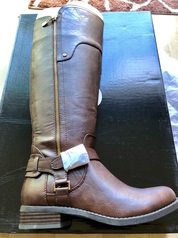 Used Brand New Dark Brown Guess Classic Riding Boots For Sale In
