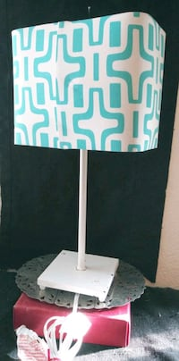 Whimsical Contemporary White Metal Desk Lamp