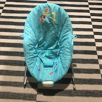 Used infant baby chair blue