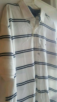 white and black striped polo shirt Toronto, M1G 1H6