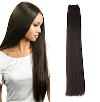 "New! Double Drawn Cuticle Intact Remy 14""-26"" Dark Brown (#2) Hair Extensions null"