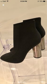 Zara fabric Ankle Boots. Size 7. WORN ONCE.  Vaughan