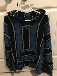 Comfy blue and black sweater