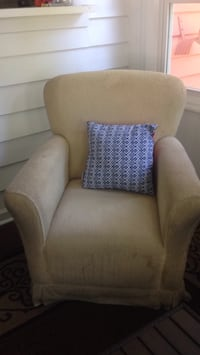 white and blue fabric sofa chair Mount Pleasant, 29464
