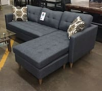 Brand New Grey Linen Sectional Sofa Couch  Silver Spring