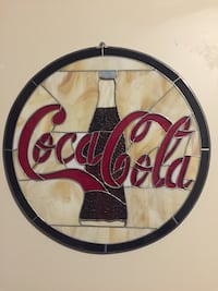 """Vintage Coca Cola 19"""" Stained Glass advertising sign Halifax, B3K"""