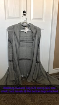 Gray cardigan brand new Central Okanagan, V4T 1P2
