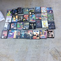 assorted DVD cases
