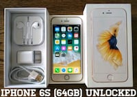 Iphone 6S (64GB) Factory-UNLOCKED + Accessories  Arlington